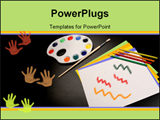 PowerPoint Template - This is a picture of common art supplies like what you might find in a grade school classroom.