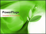 PowerPoint Template - a beautiful abstract artistic green 3d wallpaper