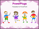 PowerPoint Template - kids reading