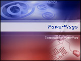 PowerPoint Template - Email signs and desktop with mouse in blue and red background