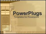 PowerPoint Template - Traditional style Asian houses