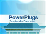 PowerPoint Template - Chinese temple in sky blue
