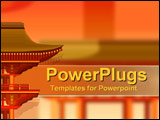 PowerPoint Template - Oriental reds and oranges with architecture