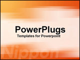 PowerPoint Template - Digital display with a suggestion of Japanese technology