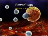 PowerPoint Template - 3d rendered illustration of blood cells and a cancer cell