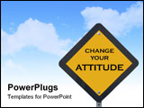 PowerPoint Template - Funny traffic sign that tells drivers to change their attitude.