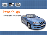 PowerPoint Template - Beautiful Sports car in blue