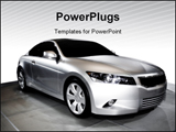 PowerPoint Template - Beautiful Honda accord concept coupe car.