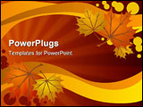 PowerPoint Template - A warm background made of autumn leaves