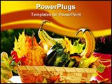 PowerPoint Template - Basket full of colorful autumn garden harvest