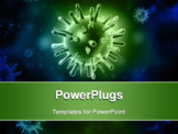 PowerPoint Template - Digital illustration of avian virus in color background