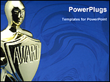 PowerPoint Template - image of a award in blue background