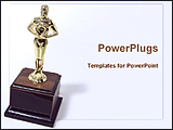 PowerPoint Template - image of award trophy