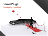 PowerPoint Template - 3d rendered illustration of a red carpet a man and a limousine