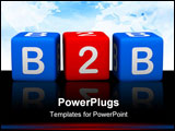 PowerPoint Template - Business To Business (colorful cubes 3D images)