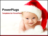 PowerPoint Template - christmas baby smiling