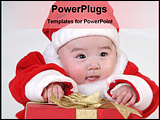 PowerPoint Template - christmas baby with gift