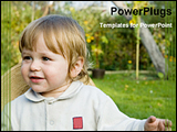 PowerPoint Template - little boy in a park