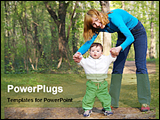 PowerPoint Template - mom with her child in a park