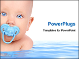 PowerPoint Template - baby in water