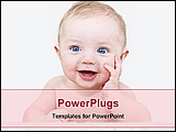 PowerPoint Template - image of a laughing baby