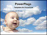 PowerPoint Template - happy baby under cloud
