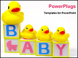PowerPoint Template - cute baby blocks