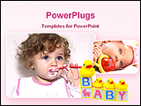 PowerPoint Template - image of cute babies