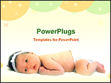 PowerPoint Template - image of a beautiful baby girl