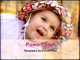 PowerPoint Template - a infant girl with big designed hat