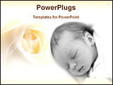PowerPoint Template - a baby in a floral background
