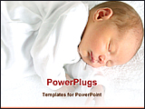 PowerPoint Template - a newborn baby is sleeping