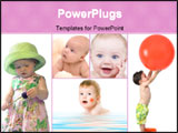 PowerPoint Template - collage of babies