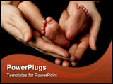 PowerPoint Template - feet of a 11 days young baby