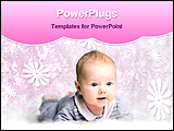 PowerPoint Template - A baby is playing