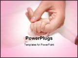 PowerPoint Template - Newborn hold mothers finger in fist .