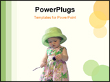 PowerPoint Template - Toddler girl with dried rose