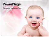 PowerPoint Template - Very cute baby posing
