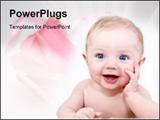 PowerPoint Template - Very cute baby posing