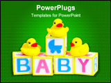 PowerPoint Template - baby blocks and rubber ducks