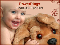 PowerPoint Template - The small child with the big toy