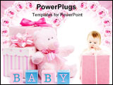 PowerPoint Template - Baby shower gifts for a little girl