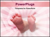 PowerPoint Template - A new-born baby