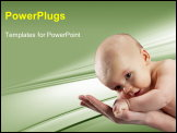 PowerPoint Template - Baby on hand