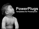 PowerPoint Template - baby looking up