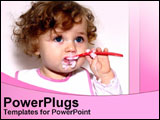 PowerPoint Template - cute baby eating food