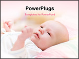 PowerPoint Template - Baby Lie In Cradle And Look Forward