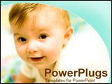 PowerPoint Template - Close-up of a baby smiling