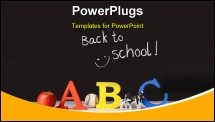 PowerPoint Template - Back to school concept with ABC letters and blackboard