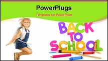PowerPoint Template - 3D Illustration of Back to School Items